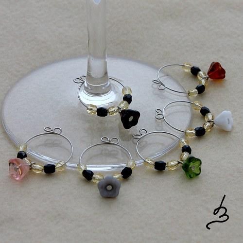 Glass charms Tygří květy