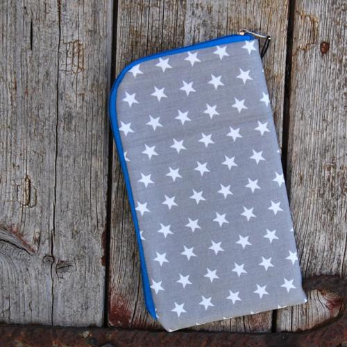 obal na mobil zipový základní- hvězdy