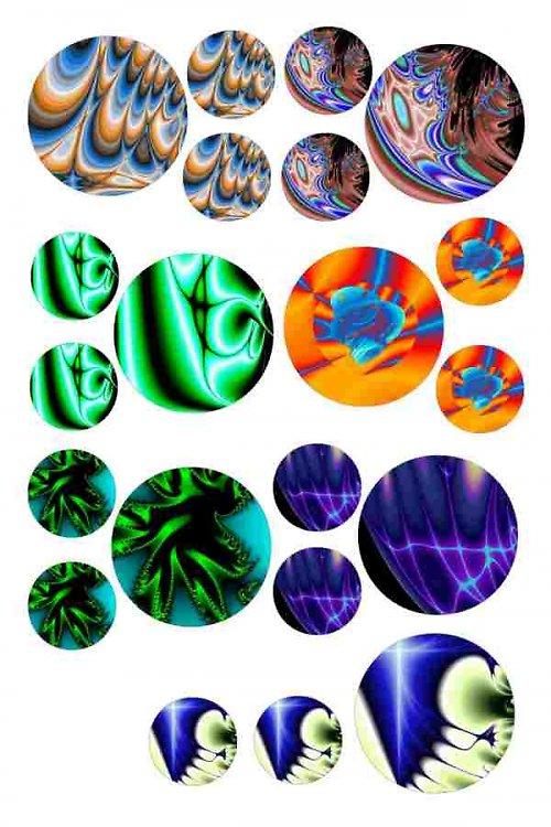 abstraktní kolečka negativ 2