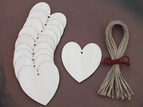 Výřez z překližky: Srdce 6 cm