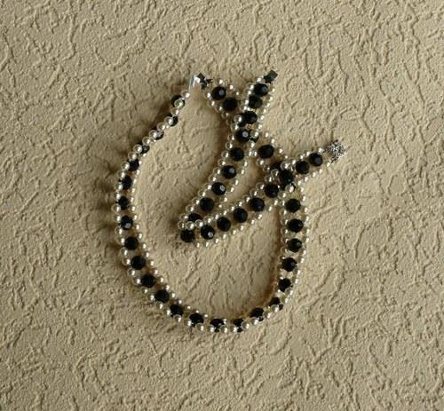 náhrdelník obojkový  - černý