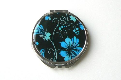 Zrcátko s modrými květinami