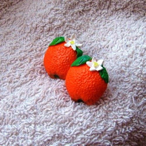 Pomerančové naušnice