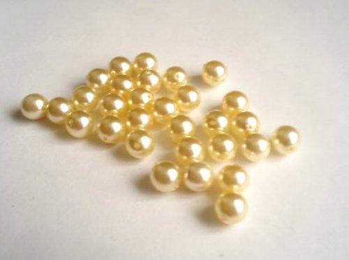 Voskované perle krém 8mm