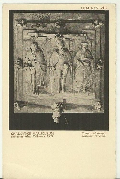 Umělecká pohlednice plastika Královské Mausoleum