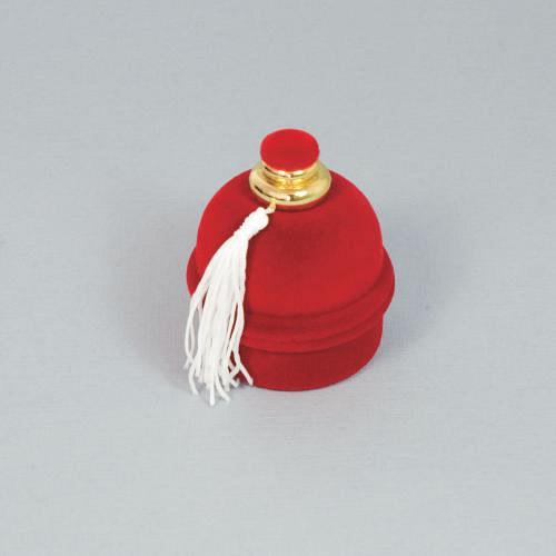 Sametová krabička na šperky - červený flakón