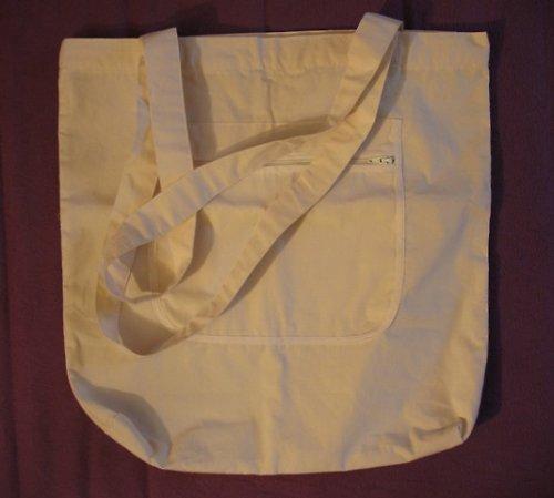 Bavlněná taška přes rameno se zipem
