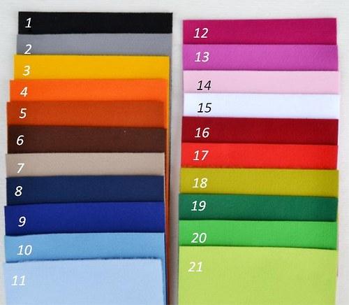 Dekorační plsť sv.modrá (barva č. 11) - 100 % PES