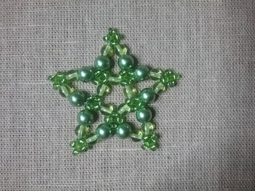 Vánoční hvězda zelená 6 cm
