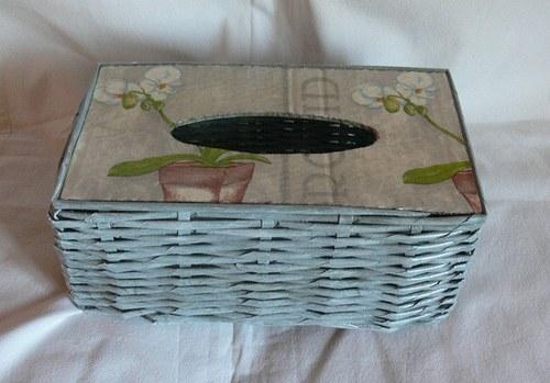 Poklop na kapesníky - orchidej (na 200ks)
