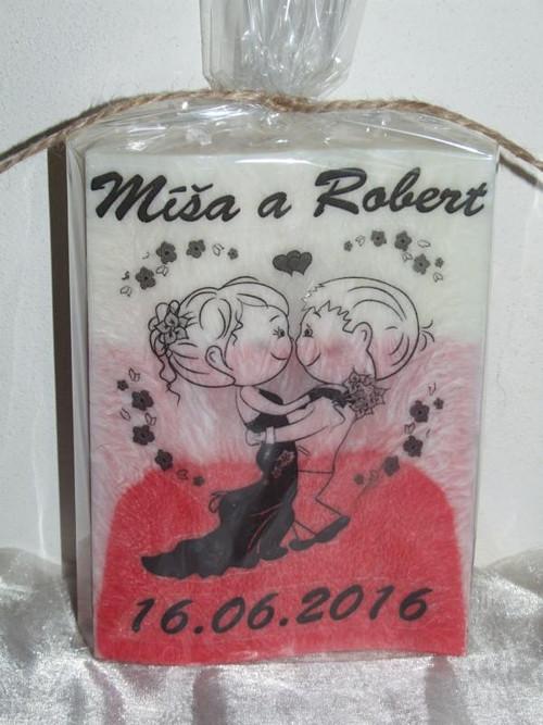 Svatební svíčka - krásný dárek pro novomanžele.