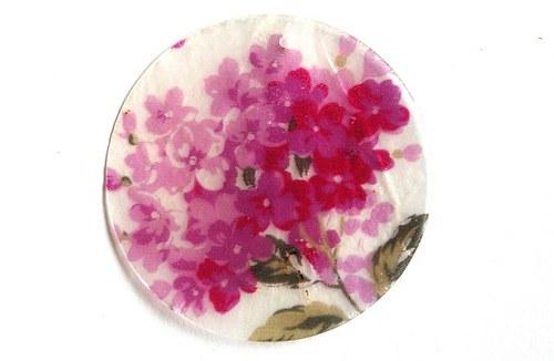 001 perleťové placky tenké- růžové šeříky