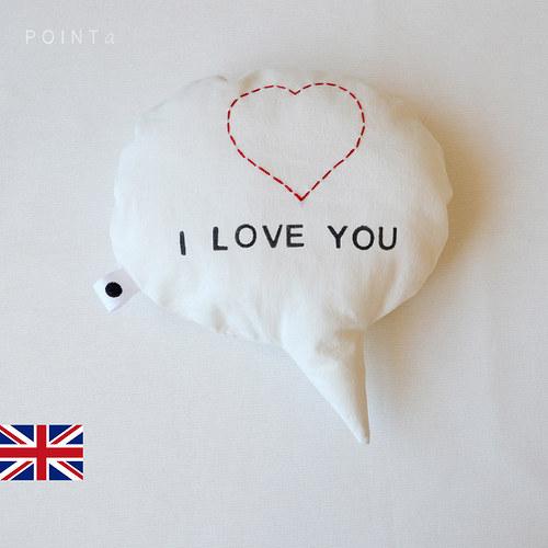 SLEVA Bublina praskla: I love you! (zezadu béžová)