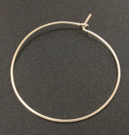 Kroužky na náušnice drátkové stříbrné 25mm, 10ks