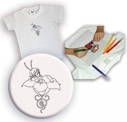 Omalovánkové tričko Víla
