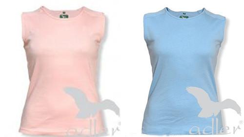 2x tričko Adler modré a růžové k potisku, nášivce