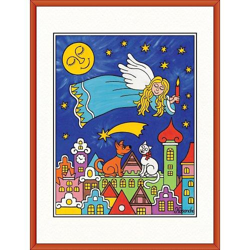Anděl Lucius letí do Betléma 31,5 x 41,5cm