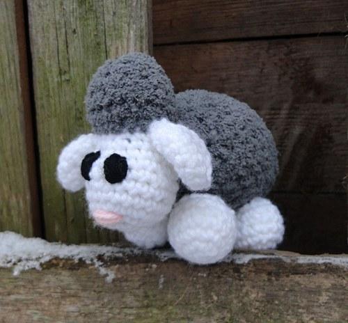 Šedobílá ovečka