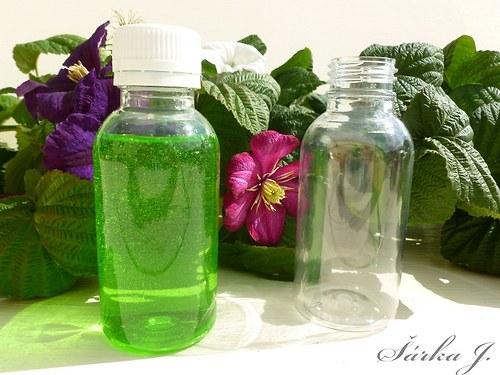 plastové lahvičky s uzávěrem - 200 ml