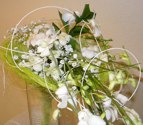 Kytice dárková nebo svatební z orchidejí