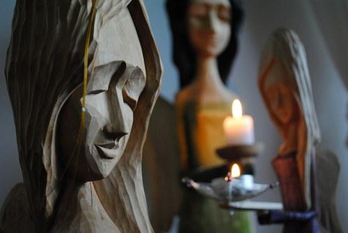 Anděl ochránce- velká socha na zakázku