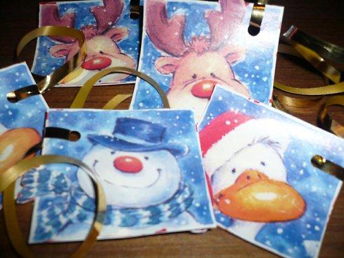 Vánoční visačky 6 ks