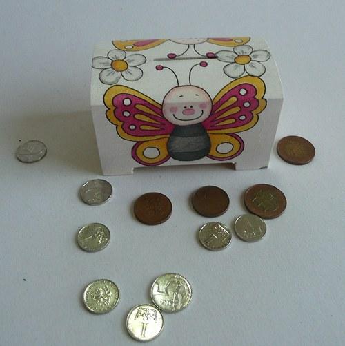 Pokladnička Motýlek
