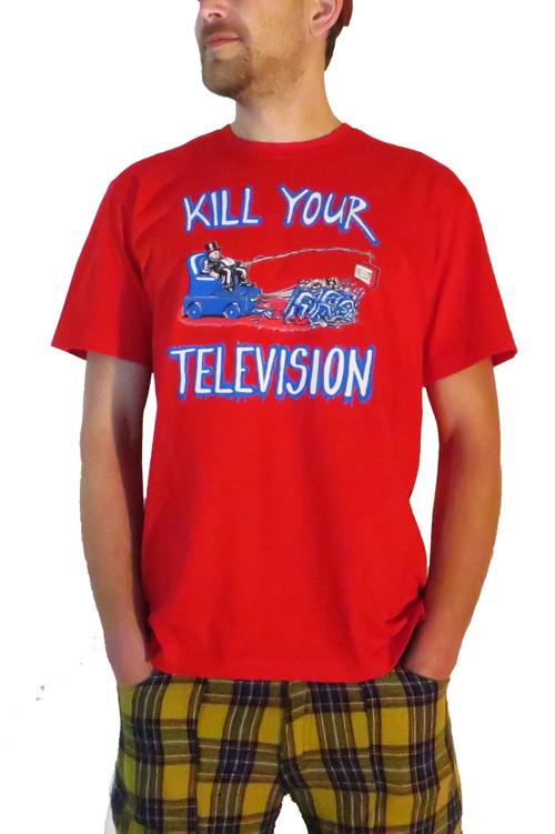 Tričko červené KILL YOUR TELEVISION