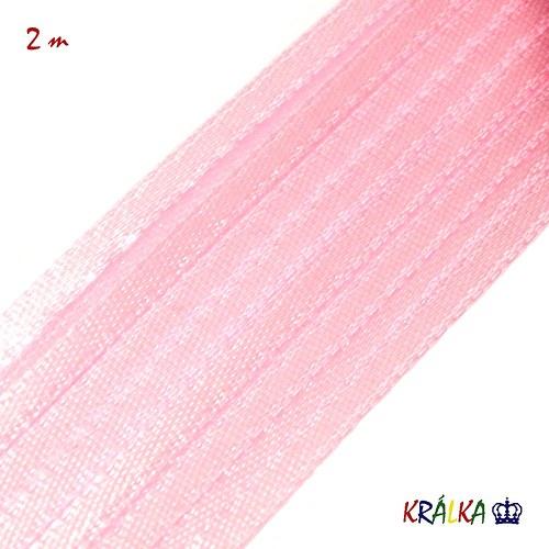 Atlasová stuha 3 mm světle růžová