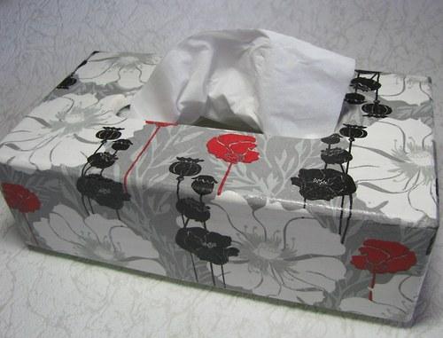 krabička na kapesníky MÁKY