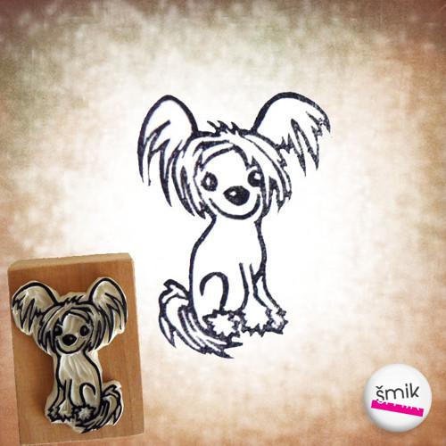 čínský chocholatý pes - razítko