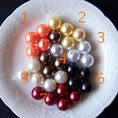 perly voskové/ zlatohnědá č.4/ 15mm/ 4ks