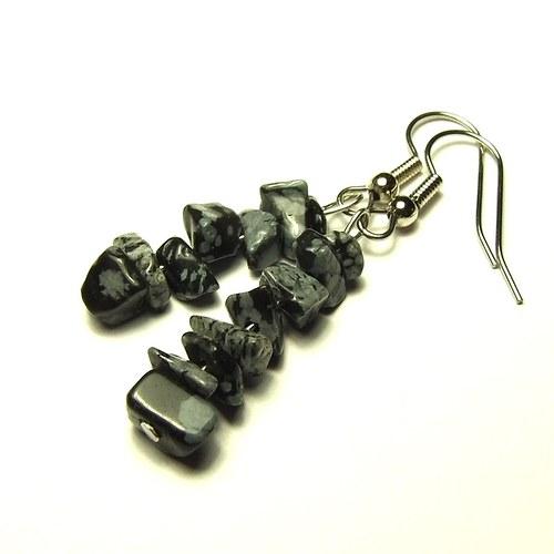 Obsidián vločkový + chirurgická ocel