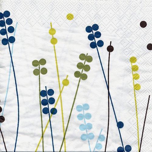 Ubrousek se stylizovanými rostlinami IKEA