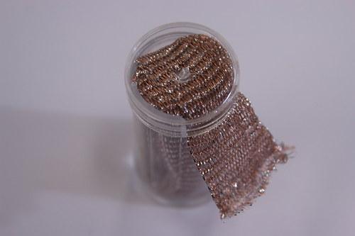 Drátěná dutinka 18-20mm, růžová/lesk - 1m