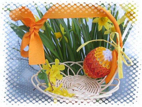 velikonoční dekorace oranžovočervená