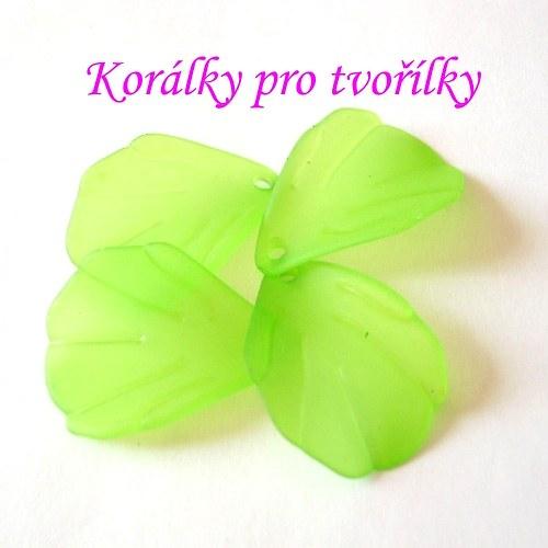 Akrylové lístky zelené 15ks/9,- Kč