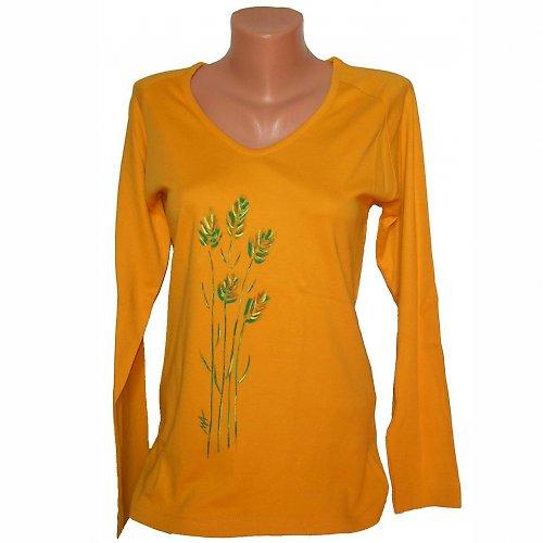 Triko malované - žlutá