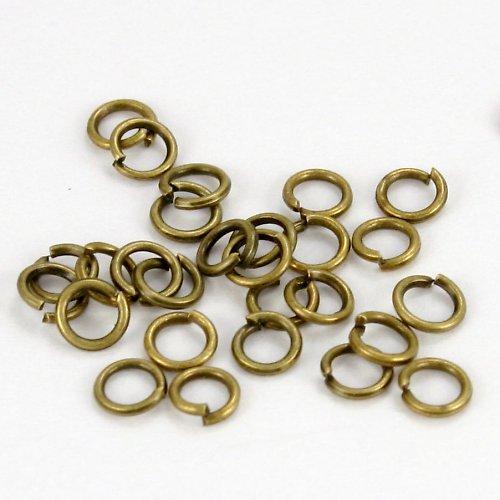 Bronzové kroužky 4 mm (100 ks)