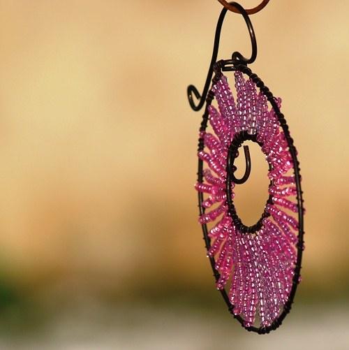 Kolečko k zavěšení růžové - 10 cm