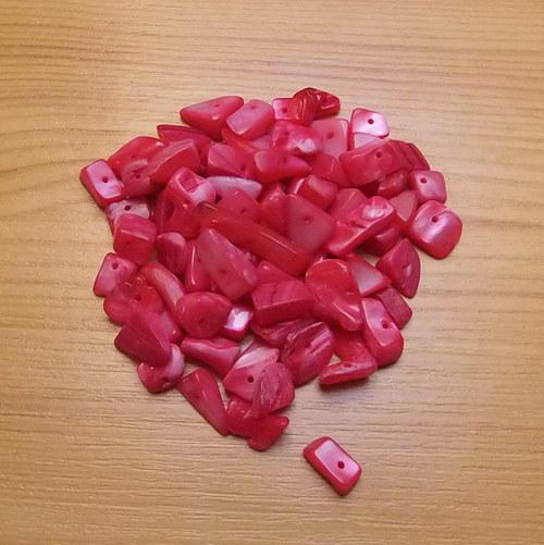 Perleťové zlomky - světle červená