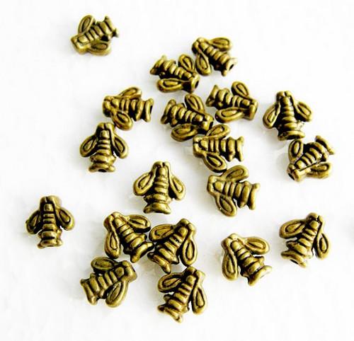 Staromosazné mezidílky včelička, 7x8mm (40ks)