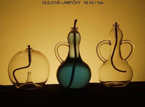 skleněné výrobky-lampička SLEVA 50%