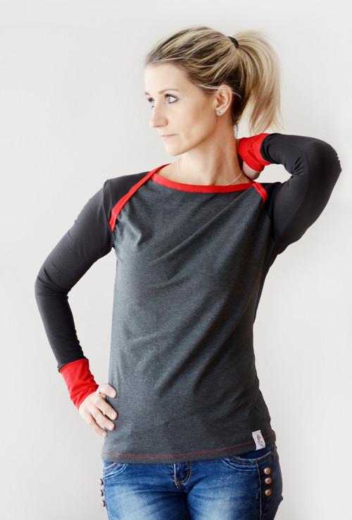 Černé tričko - vyberte si svou barvu!!