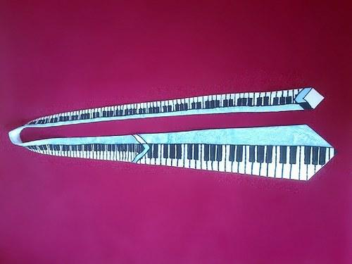Kravata s klaviaturou