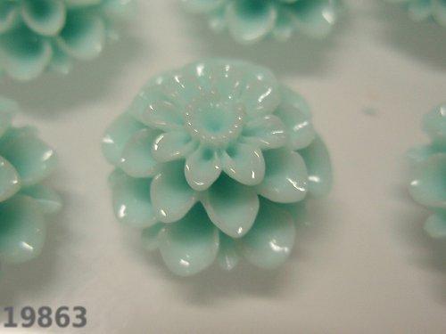 19863-B19 Kabošon květ PASTELOVĚ ZELENÝ, bal. 2ks