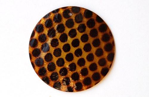 perleťové placky tenké- 35mm