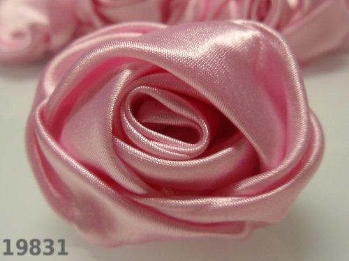19831-B08 MAXI saténová růže 50mm! růžová