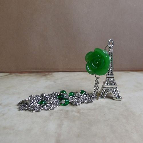 Rozkvetlá Paříž - náhrdelník