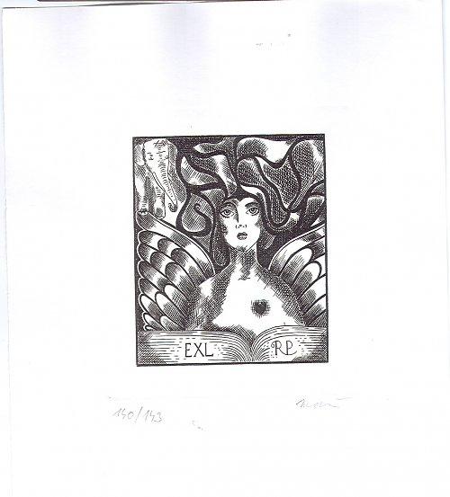 Ex libris Čtenářka pro Mudr. R.Príbyše
